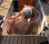 A Refreshing Cockpit Bucket Bath