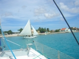 Off the bow in Bonaire