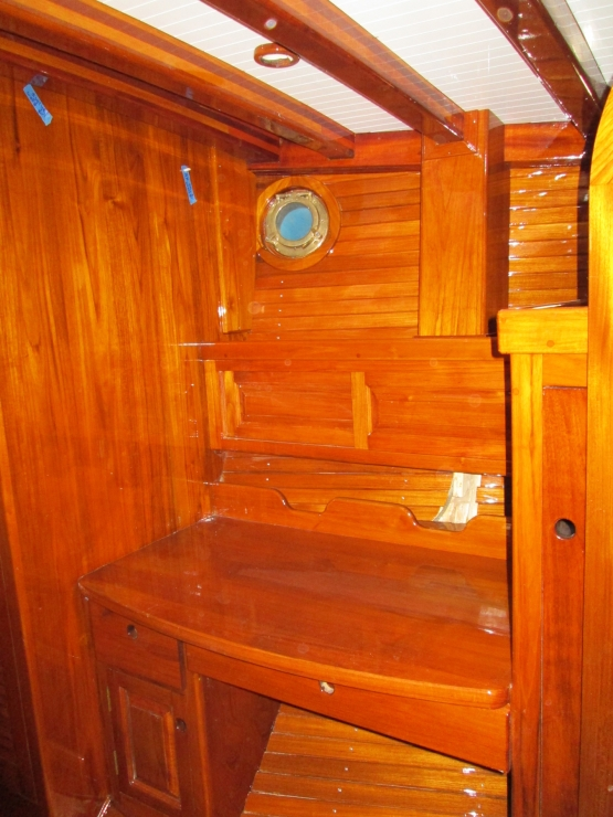 Interior Woodwork: Forward Cabin