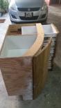 Saloon Table Cabinet W Drawers & Door