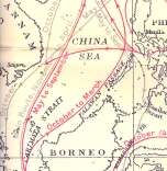 1950 Admiralty #5308 crop, South China Sea