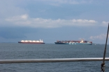 Container Shipping And LNG Tanker Malacca Strait