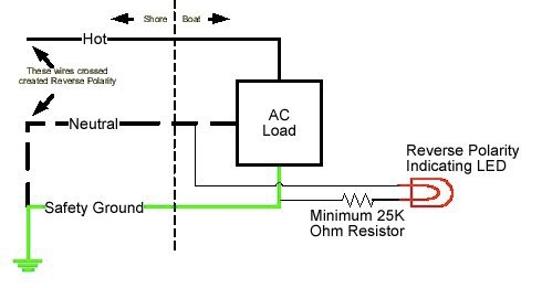 Reverse Polarity Indicator with a Galvanic Isolator ... on