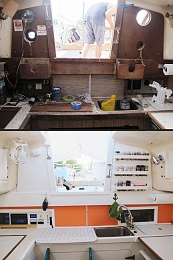 Click image for larger version  Name:Before After Colorful Paint companionway.jpg Views:318 Size:69.7 KB ID:105048