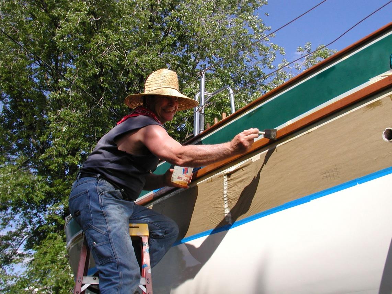 Click image for larger version  Name:Varnishing Westsail July 09'.jpg Views:257 Size:458.7 KB ID:13148