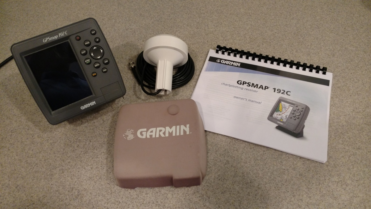 SOLD] Garmin GPSMAP 192c GPS Color Marine Chartplotter with Built-in