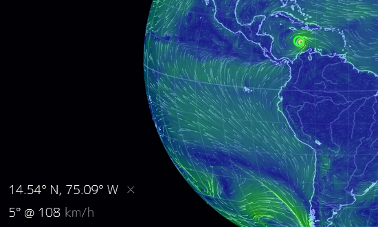 Indicated Wind Speed On Earth Nullschool Cruisers Sailing Forums