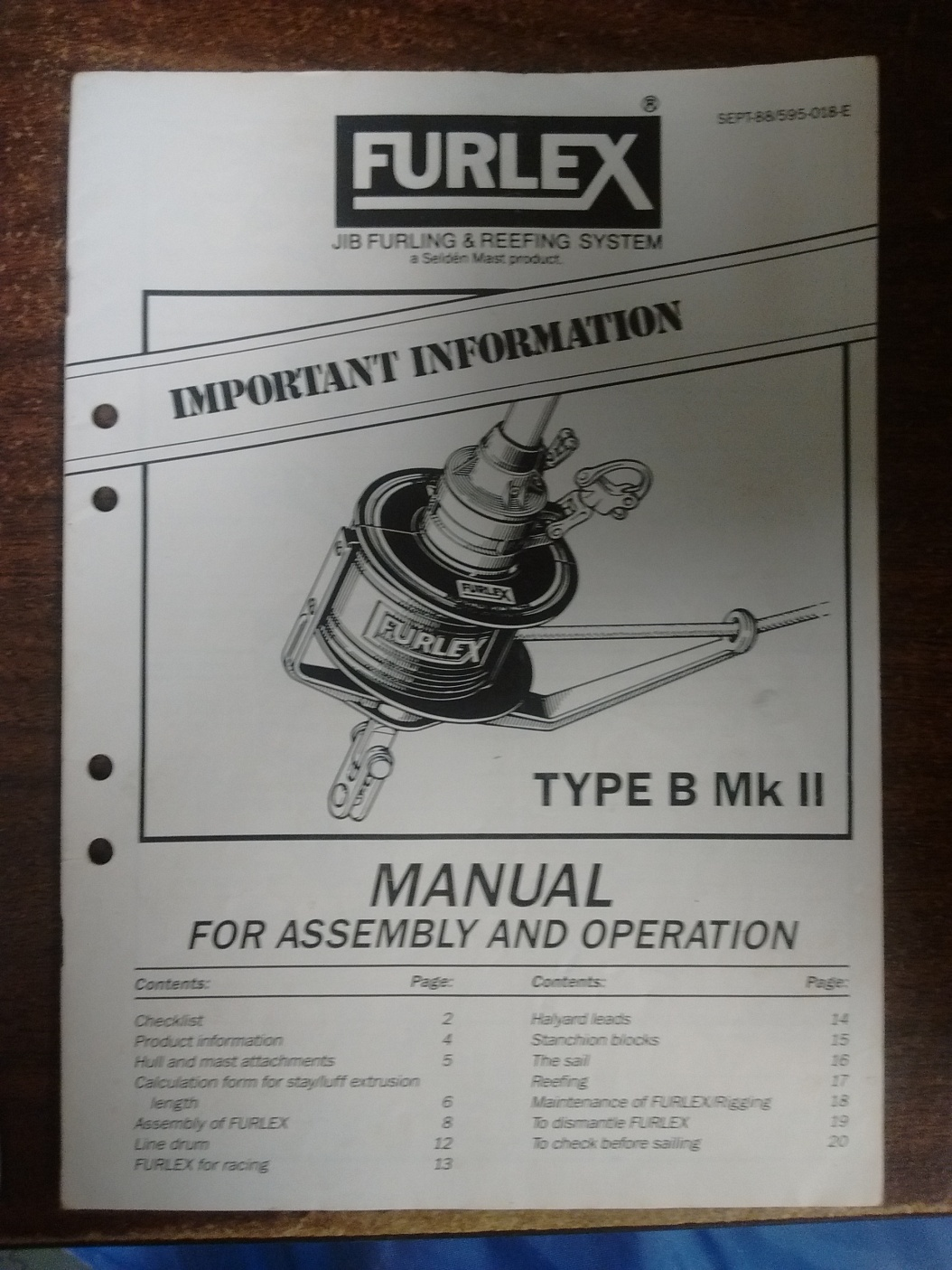 SOLD] Furlex Type B Mk II Roller Furler - Cruisers & Sailing Forums