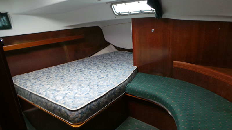 Click image for larger version  Name:Large Aft Cabin with 6' 3 headroom, custom mattress and settee - taken June 1 2016.jpg Views:366 Size:54.7 KB ID:149987