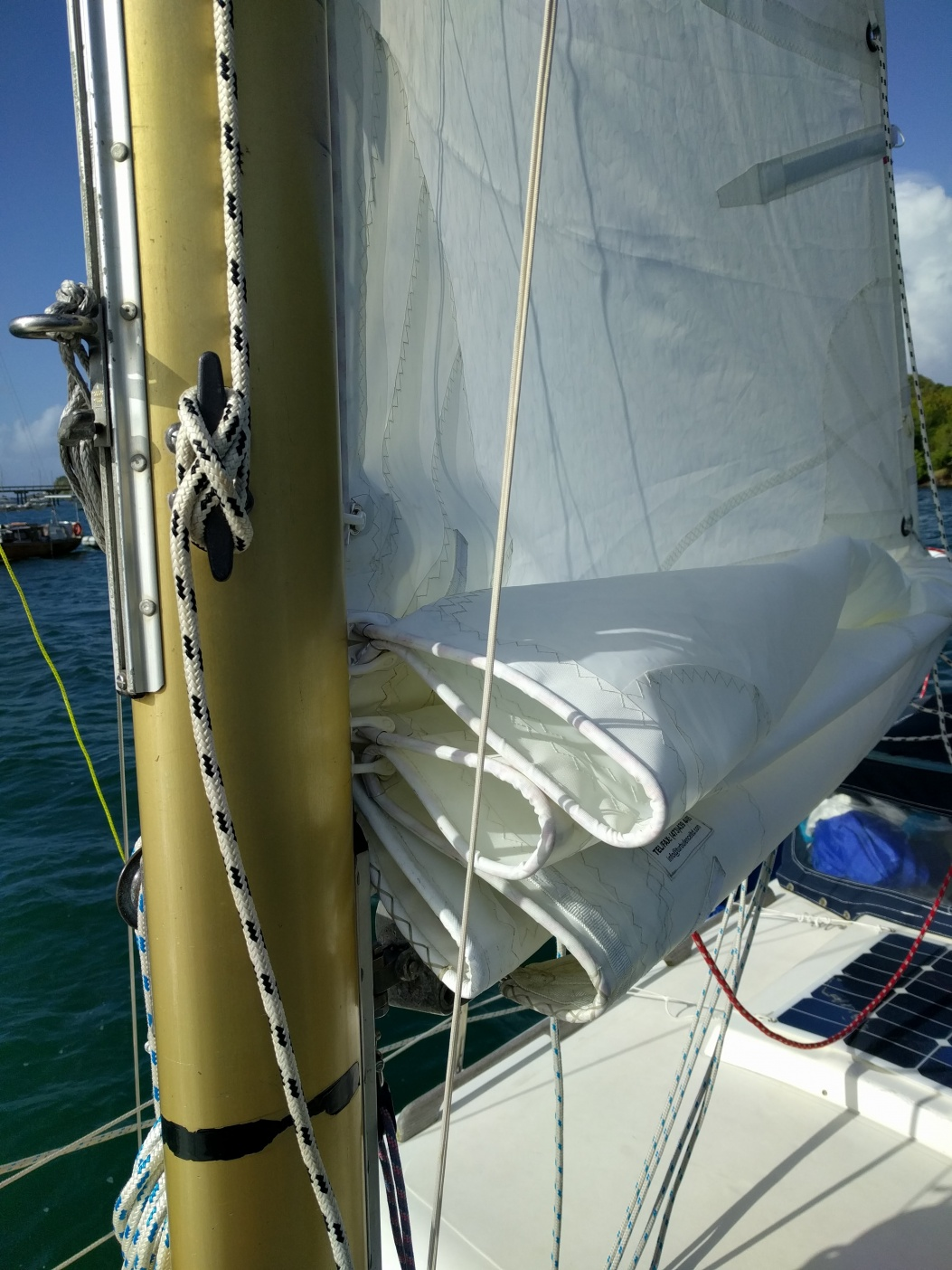 Dumb questions about new sail - Cruisers & Sailing Forums