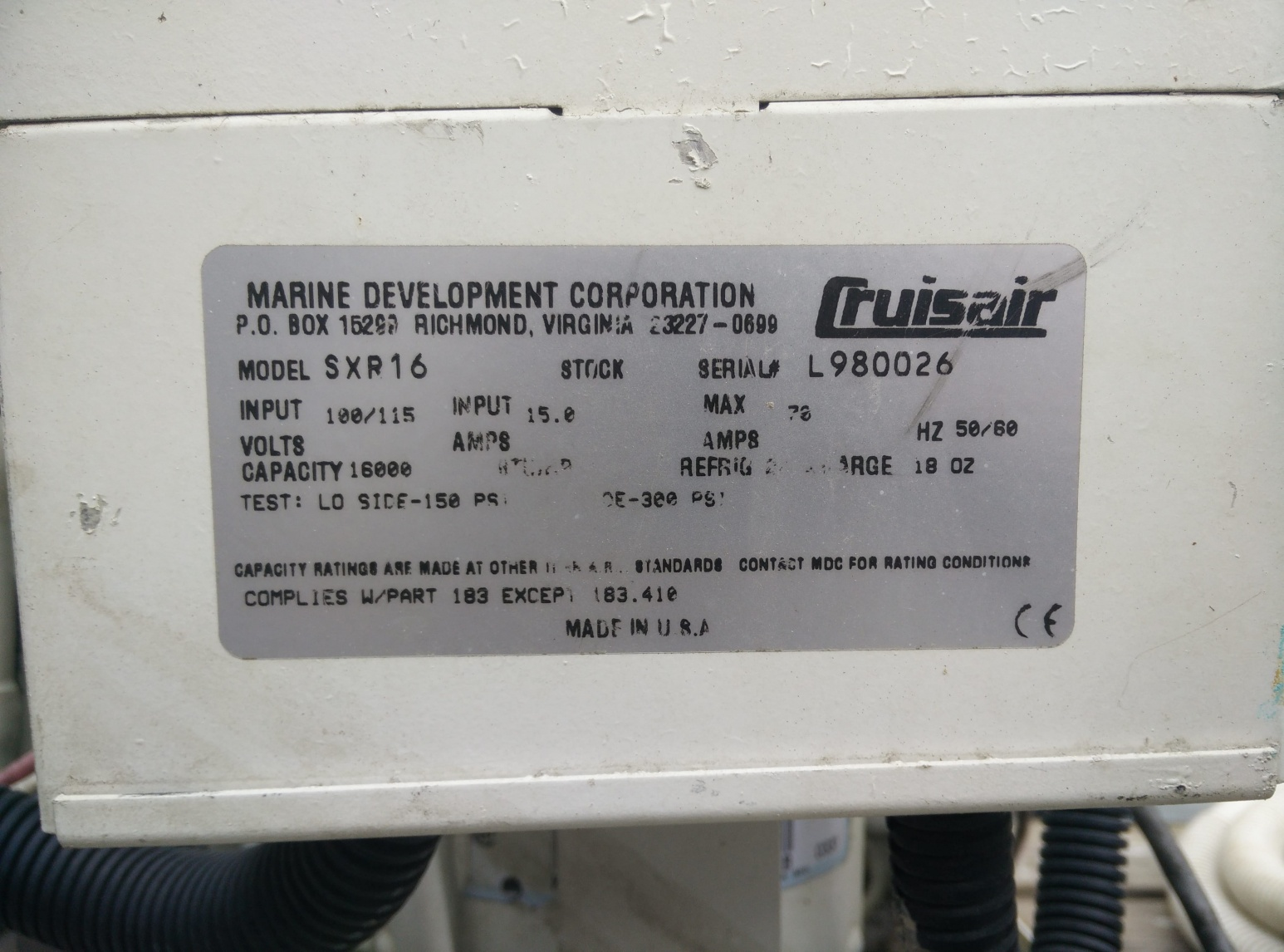 For Sale Cruisair Sxr16 16000 Btu With Smx Ii Cruisers Sailing Marine Ac Wiring Diagram Click Image Larger Version Name Img 20180411 112801 Views 147 Size 4040