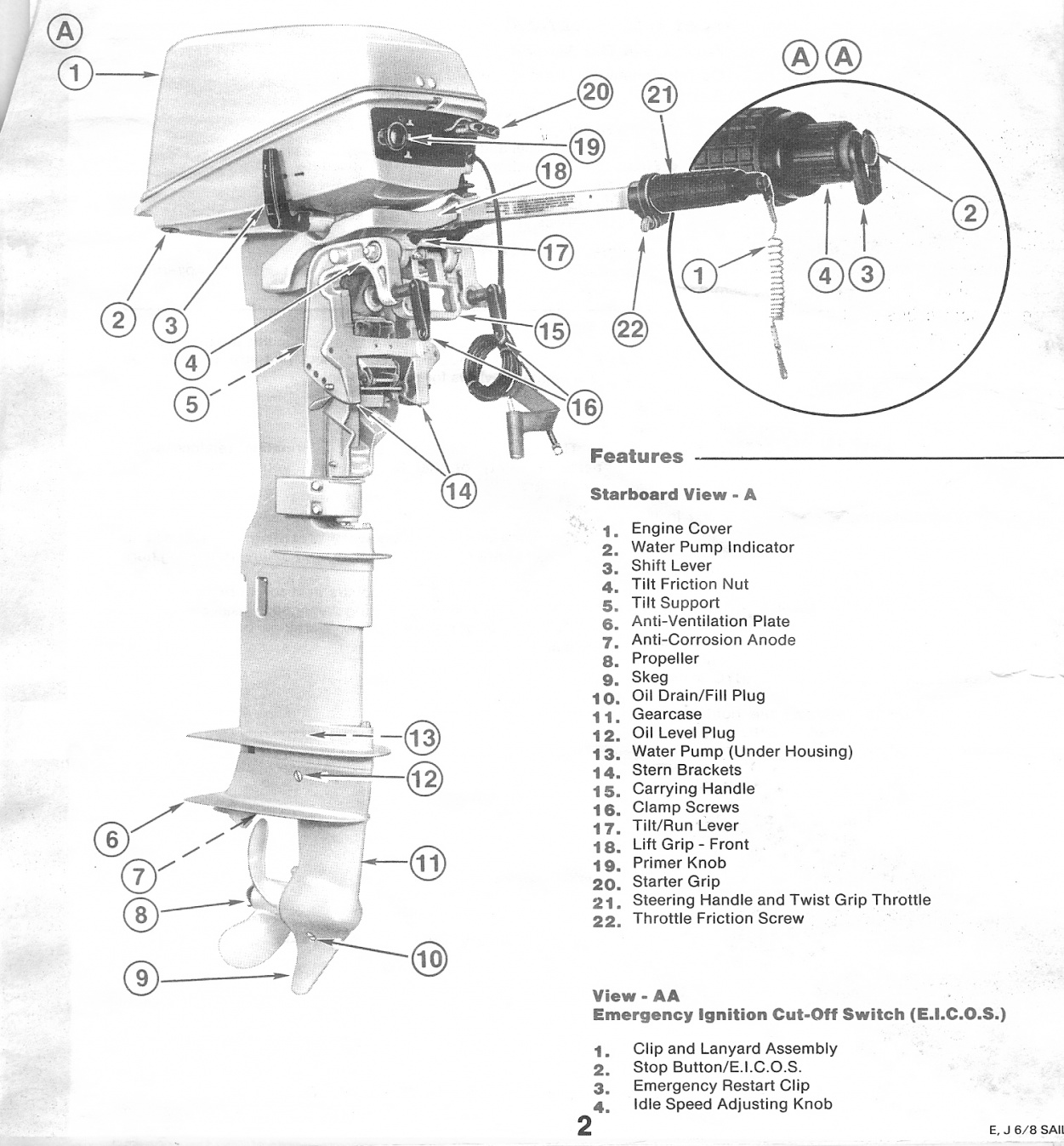 For Sale: 8 HP Evinrude Outboard Motor with extra long shaft