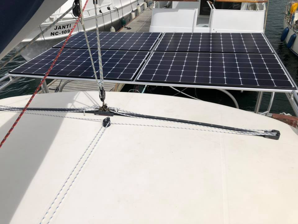 Click image for larger version  Name:Solar panels from bimini top.jpg Views:86 Size:67.6 KB ID:180802