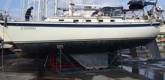Fiberglass Repair On Keel Cruisers Sailing Forums