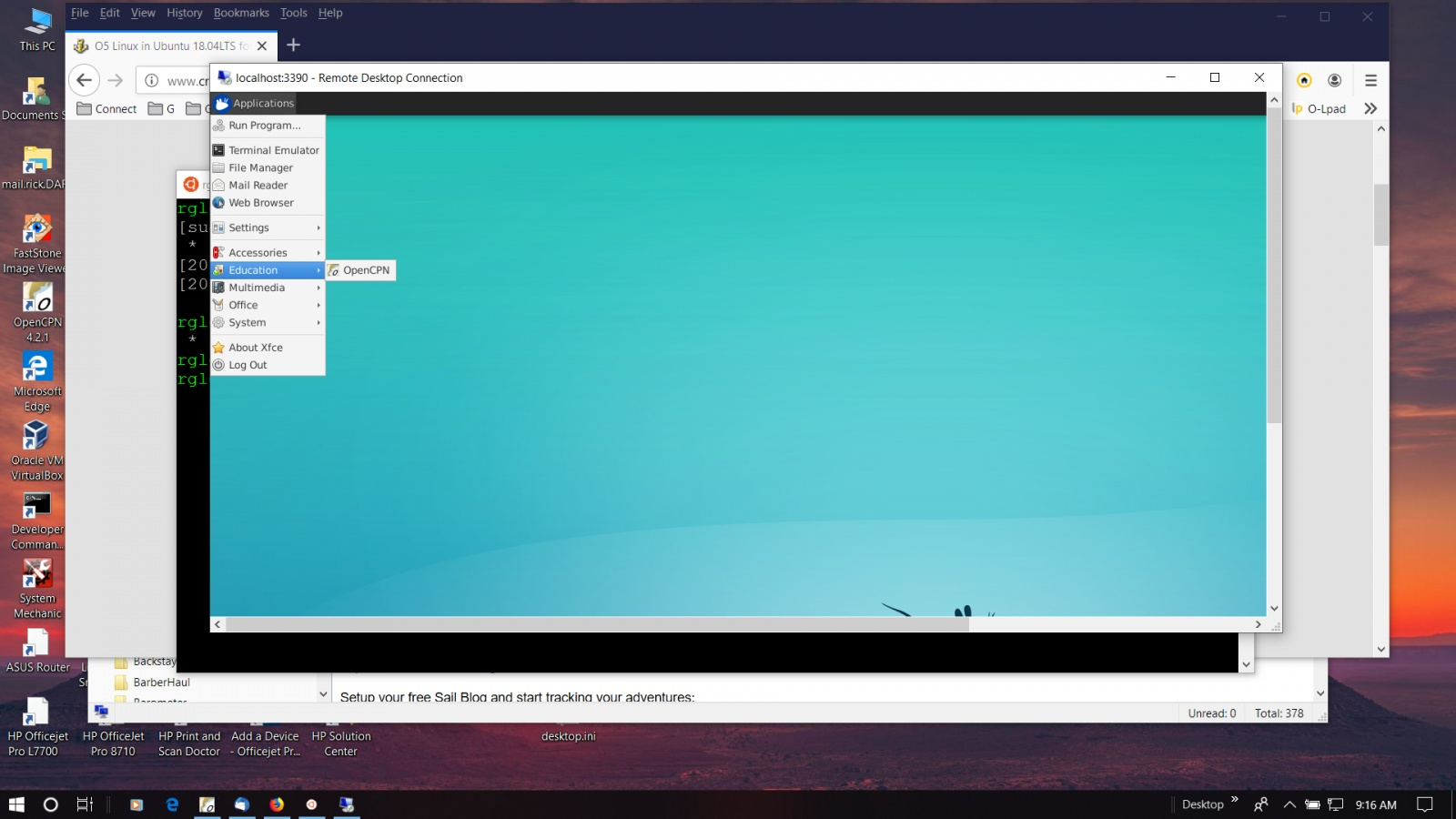 O5 Linux in Ubuntu 18 04LTS for Windows10 - Page 3 - Cruisers