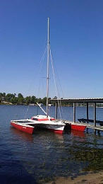 For Sale or Trade: Dragonfly 25', Folding trimaran, 1990