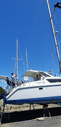 Click image for larger version  Name:Boat, Standing the mast and boom, 28-10-2019 013.jpg Views:38 Size:283.0 KB ID:202224