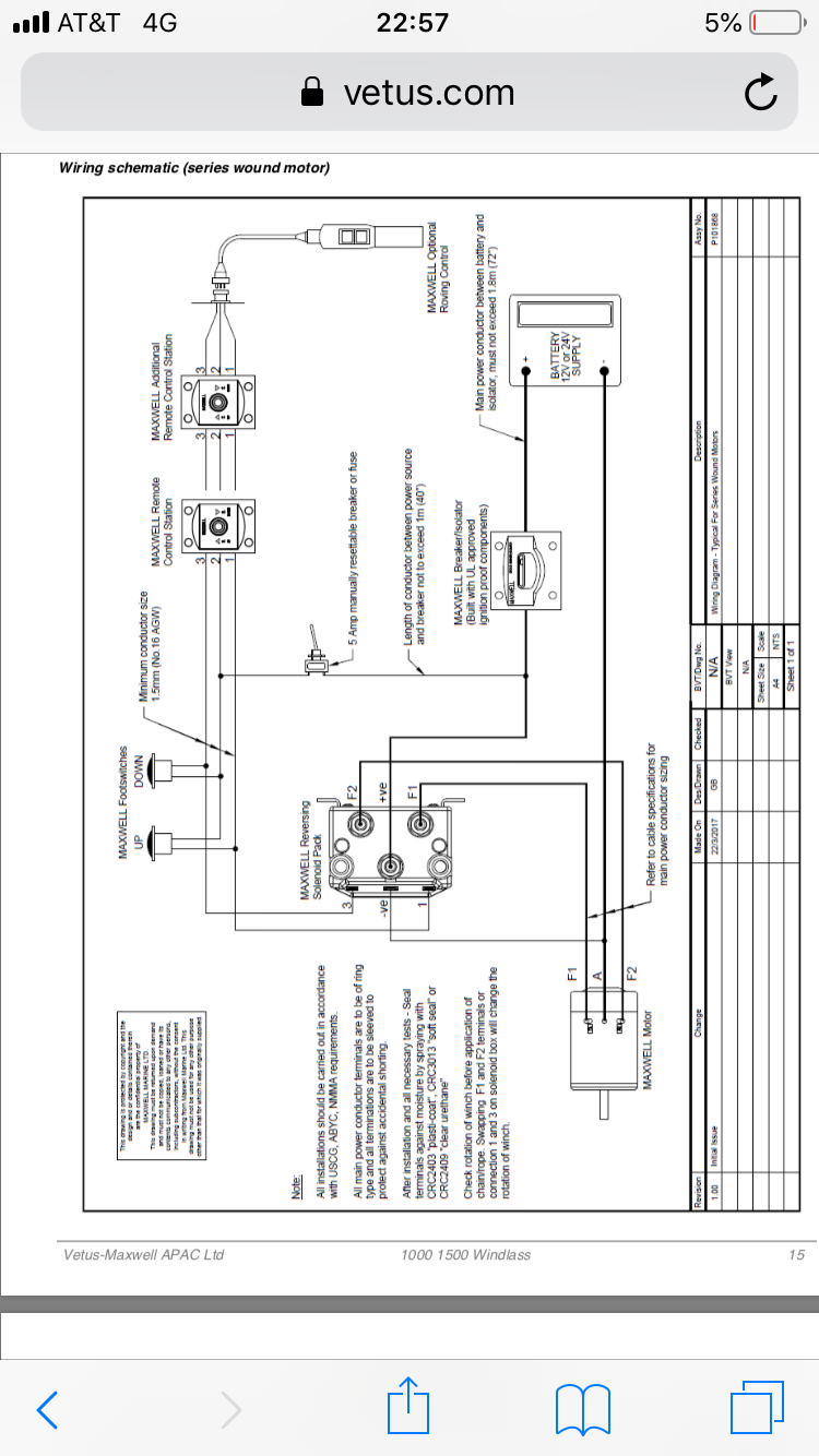Lewmar Foot Switch Problem Page 3 Cruisers Sailing Forums