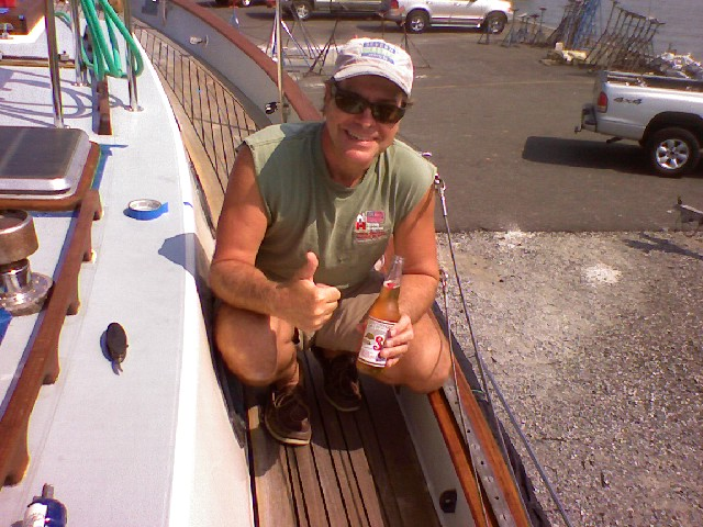 Click image for larger version  Name:CB Smiling After Deck Seam Work.jpg Views:127 Size:111.4 KB ID:2164