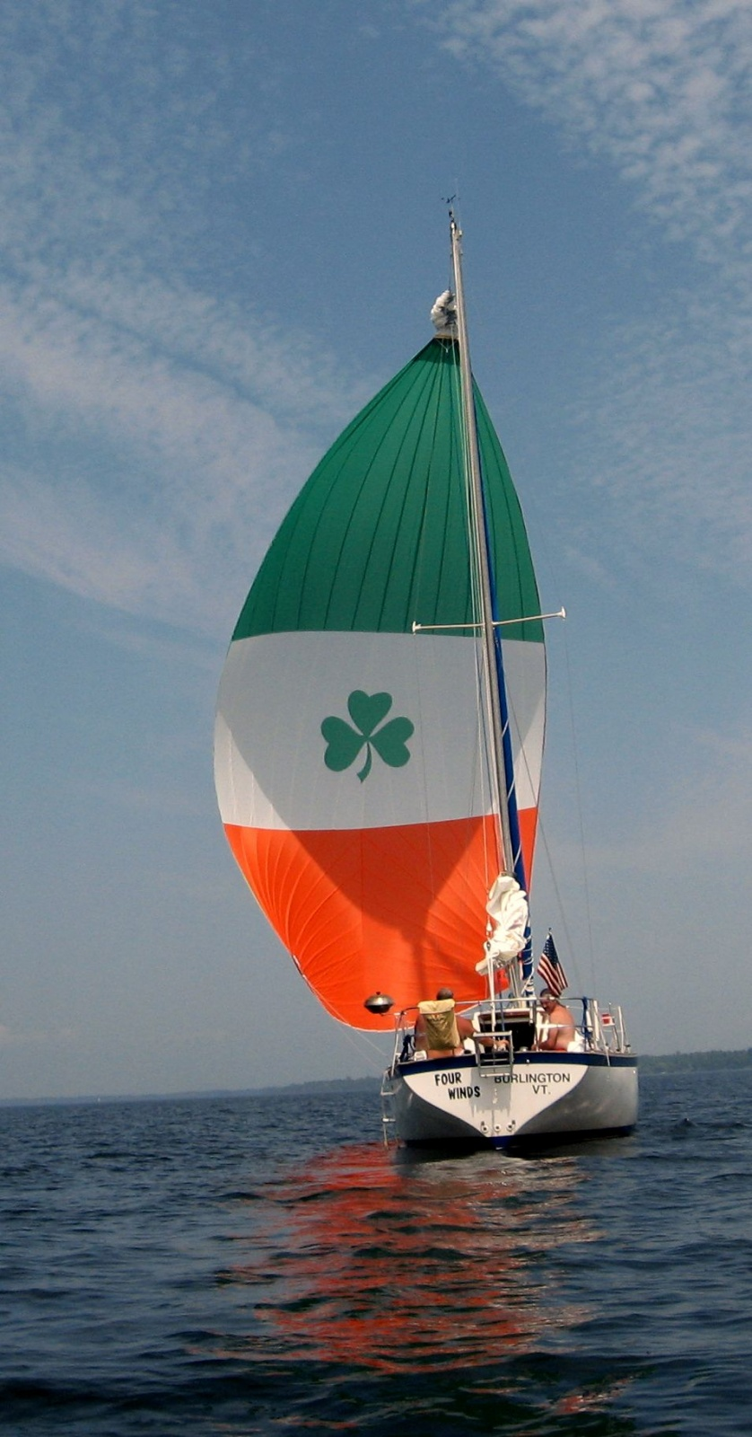 Click image for larger version  Name:the Four Winds with her new Spinnaker.jpg Views:241 Size:330.2 KB ID:22340