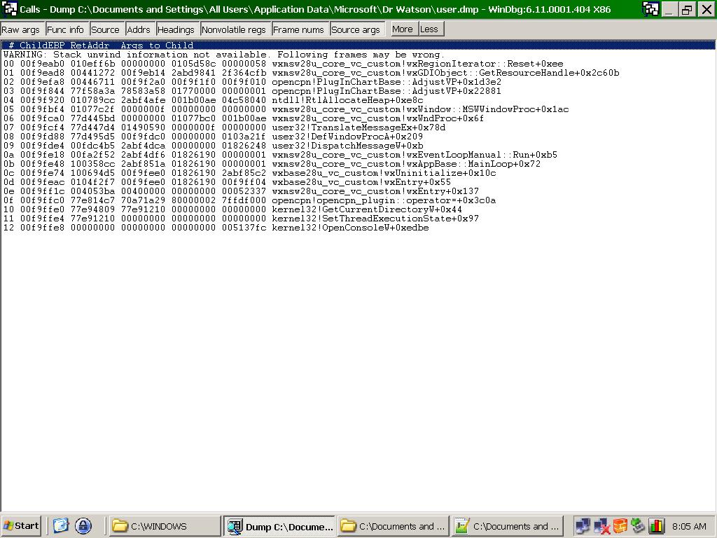 Click image for larger version  Name:callstackOpencpncrash.png Views:61 Size:40.0 KB ID:27433