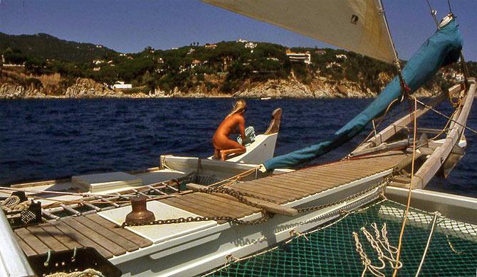 Image result for wharram catamaran nude women