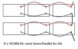 Click image for larger version  Name:Version #2  6 x 12 v series parallel to 24v.jpg Views:192 Size:33.9 KB ID:2891