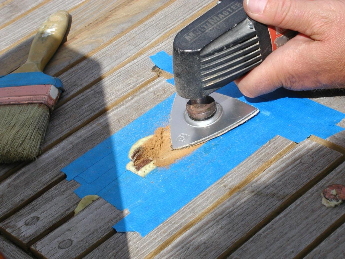 Click image for larger version  Name:Sanding Teak Spline Flush.jpg Views:194 Size:448.2 KB ID:30469