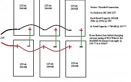 Click image for larger version  Name:Version 2a for 6 x 12 v series parallel to 24v.jpg Views:1599 Size:38.9 KB ID:3457