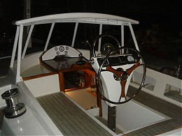 Click image for larger version  Name:Home made helm and wheel.JPG Views:153 Size:55.7 KB ID:3514