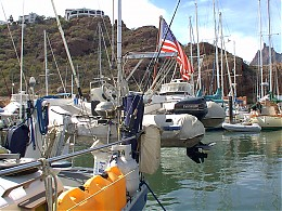 Click image for larger version  Name:Dinghy and davits.JPG Views:445 Size:243.5 KB ID:3995