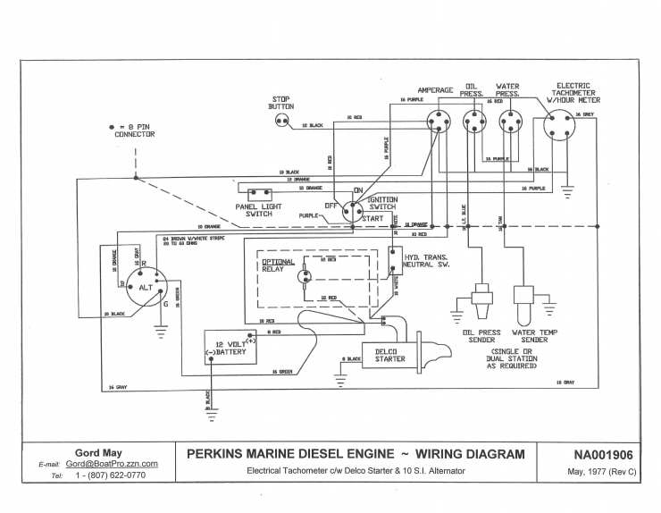 comment monter un compte tour sur un moteur perkins 4 108