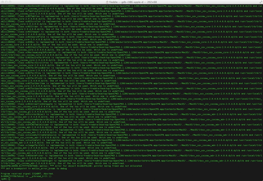 Click image for larger version  Name:gdb Output running OpenCPN.jpg Views:59 Size:444.9 KB ID:50876