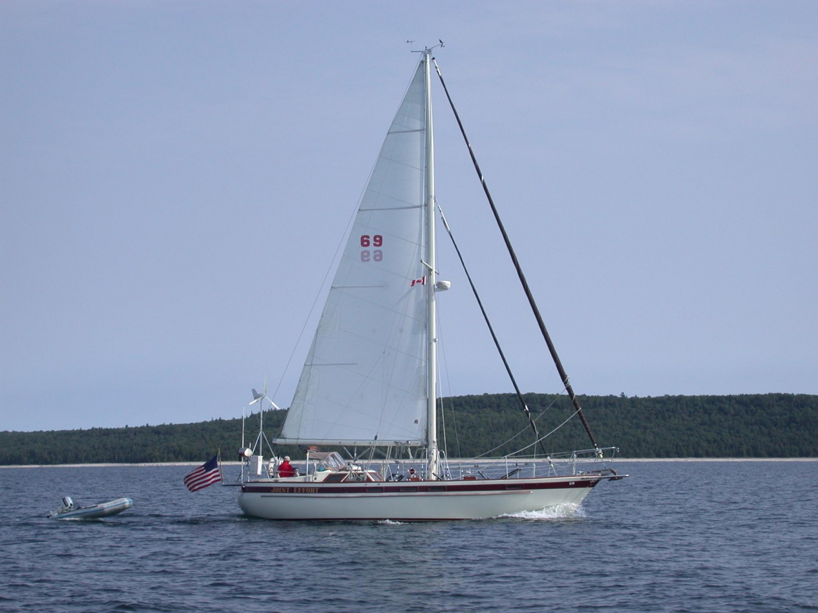 Click image for larger version  Name:JE mainsail at sea.jpg Views:1171 Size:383.6 KB ID:52006