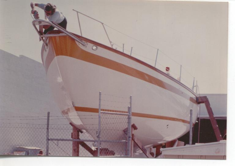 Click image for larger version  Name:Hull # 1 under construction.jpg Views:195 Size:34.4 KB ID:5741