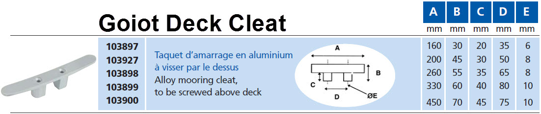 Click image for larger version  Name:Goiot Deck Cleat.jpg Views:476 Size:77.3 KB ID:62844
