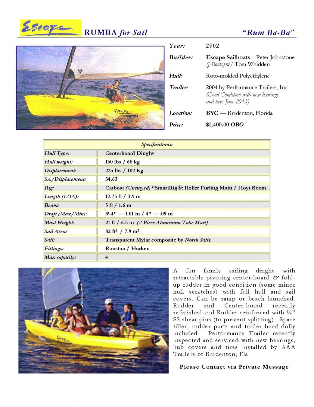 Finding a good small boat for day sailing, trailering, or