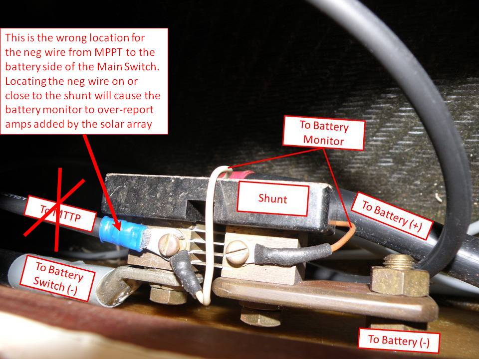 Click image for larger version  Name:MPPT & Shunt wiring.jpg Views:104 Size:98.9 KB ID:66116
