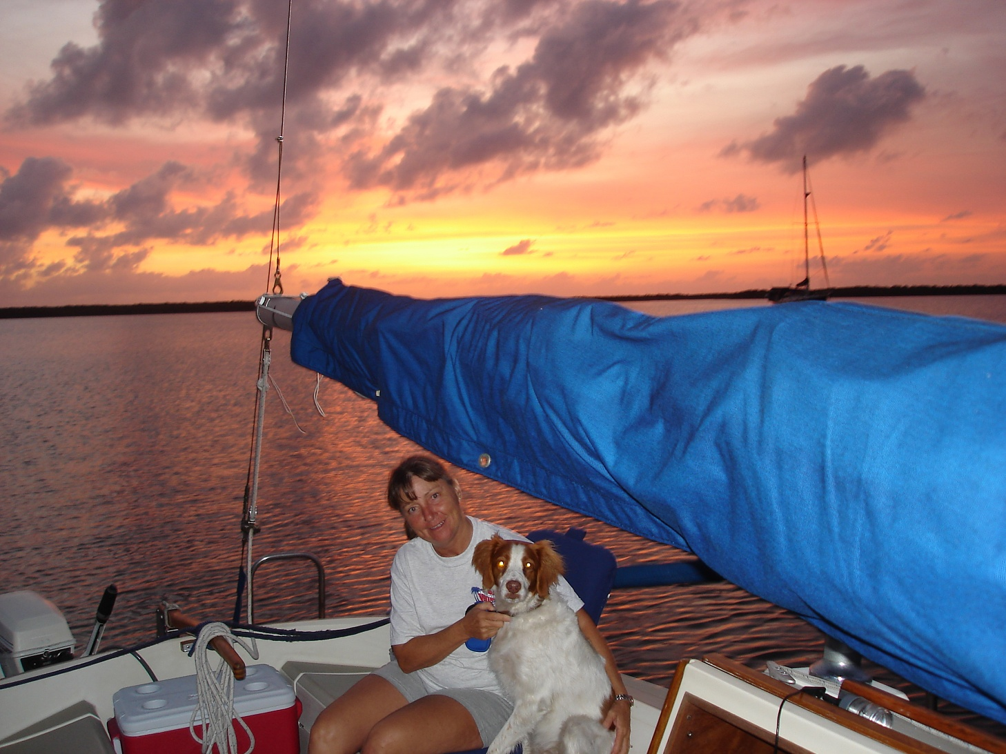 Click image for larger version  Name:Ann & Roxy sunset on sailboat.jpg Views:120 Size:469.5 KB ID:6689