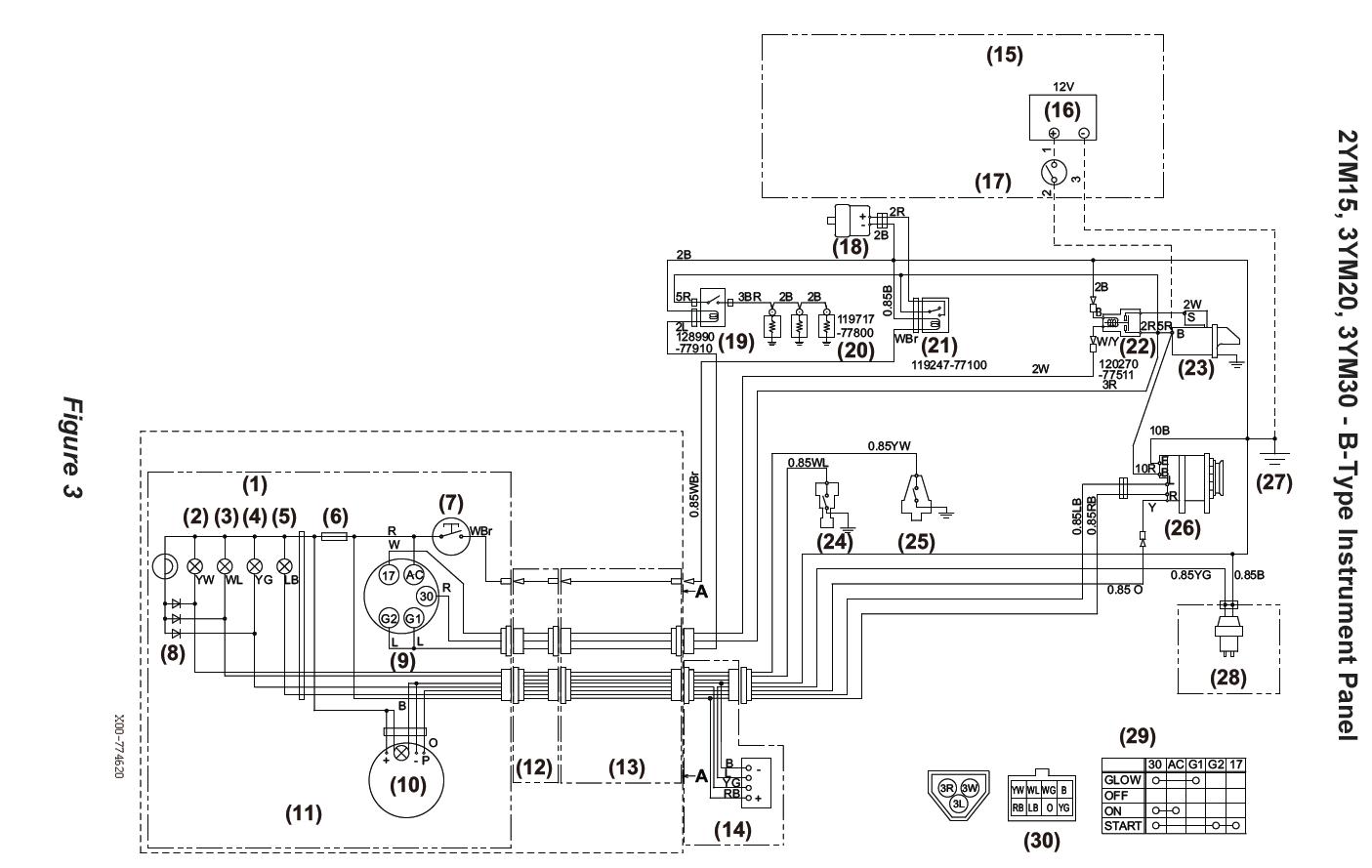 yanmar 2002d wiring diagram lights yanmar 2002d wiring diagram headlight switch