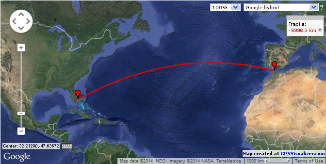 Click image for larger version  Name:Great circle from Florida to  Almerimar Spain1.jpg Views:186 Size:49.2 KB ID:76449