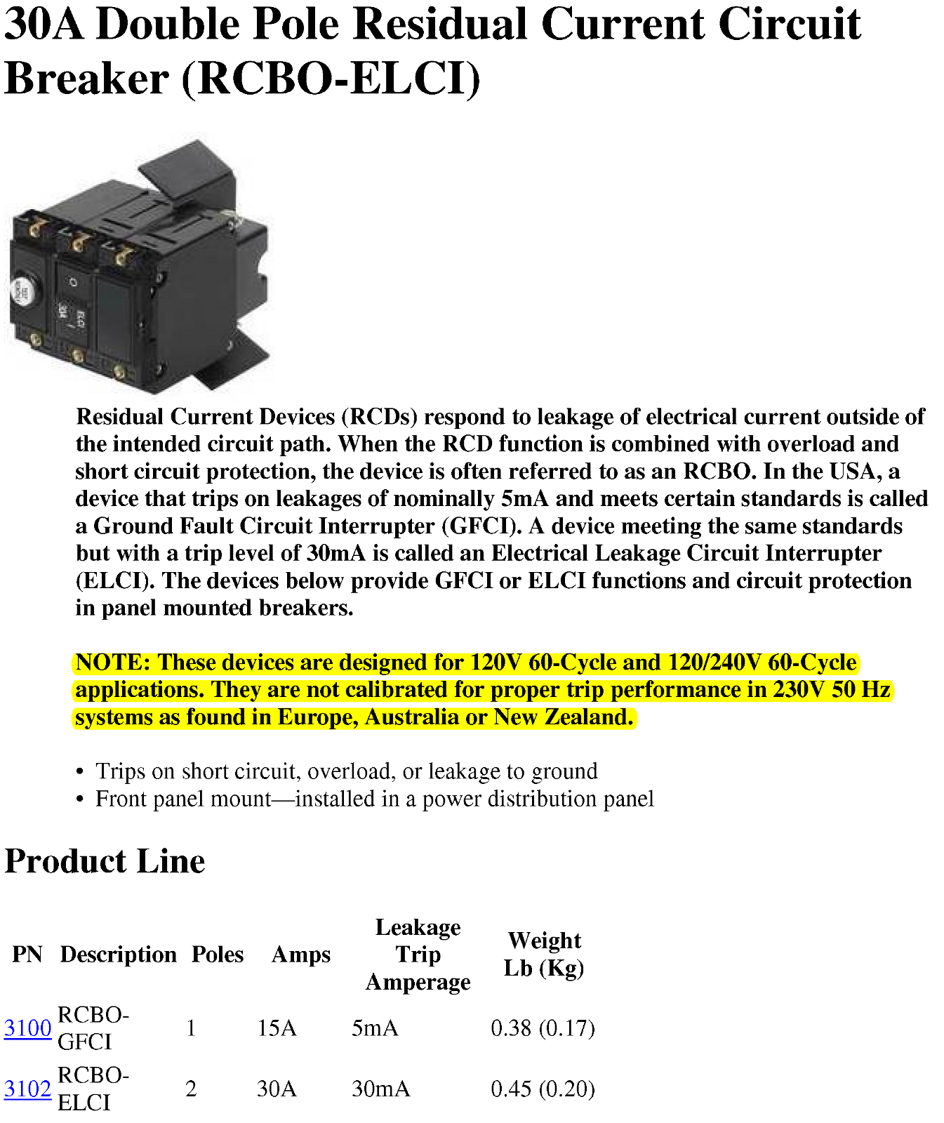 Residual Current Device Rcd Page 2 Cruisers Sailing Forums Arcfault Circuit Interrupter Goo Wikipedia Click Image For Larger Version Name 30a Double Pole Breaker