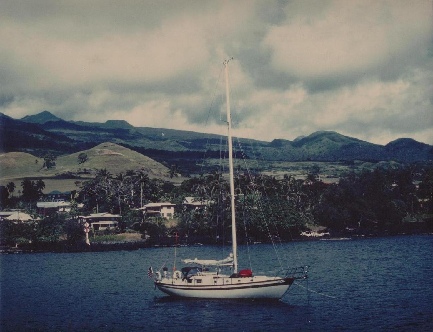 Click image for larger version  Name:Maluhia in Hana Bay, July 1979.jpg Views:255 Size:173.5 KB ID:8352