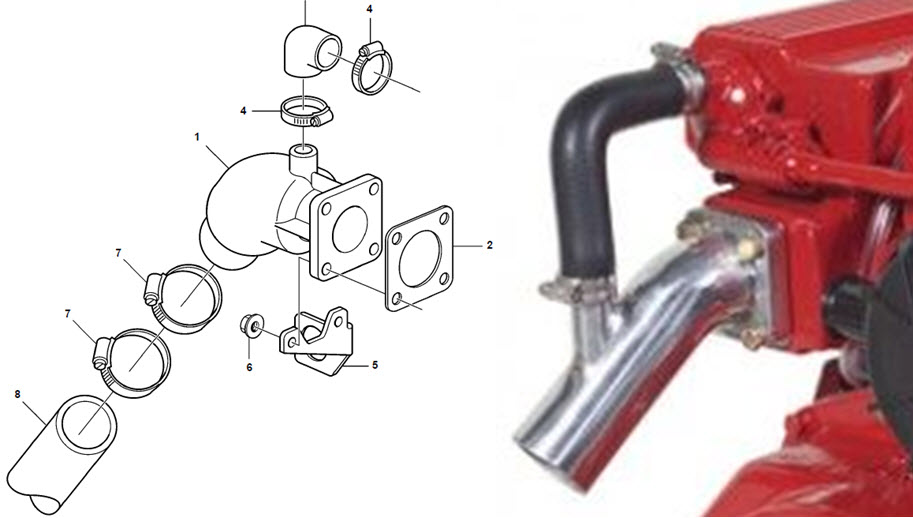 Exhaust Elbow Cleaning - Cruisers & Sailing Forums