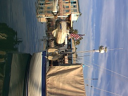 Click image for larger version  Name:Dinghy, Davits and radar.JPG Views:609 Size:280.0 KB ID:9026