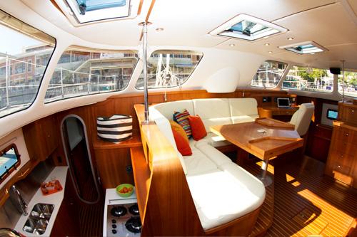 Click image for larger version  Name:Antares 44i Catamaran saloon galley.jpg Views:87 Size:90.7 KB ID:98362