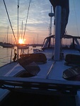 On the mooring ball in for the night...