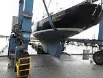 Fitting feathering prop and forward sonar