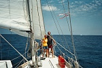 On the bow in the Gulf Stream