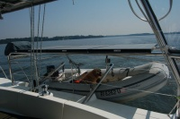 Hi we are fairly new to living aboard and cruising and are sailing with our best friend Skye.  Skye is a 10 year old Golden Retriever, who is sure she is part kitten and part human. ...